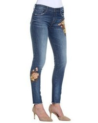 Driftwood Embroidered Skinny Fit Denim Jeans