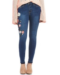 Buffalo David Bitton Hope Skinny Embroidered Released Hem Jeans