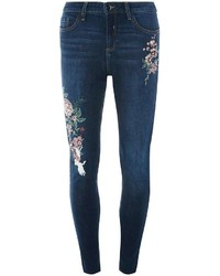 Indigo Oriental Embroidered Jeans