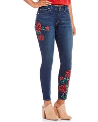 True Religion Jennie Curvy Embroidered Rose Skinny Jeans