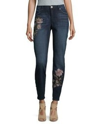 Miraclebody Embroidered Skinny Jeans