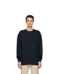Acne Studios Navy Oversized Embroidered Sweatshirt
