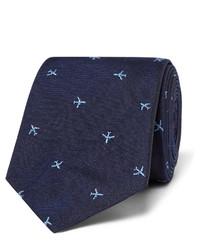 Paul Smith 65cm Embroidered Silk Faille Tie