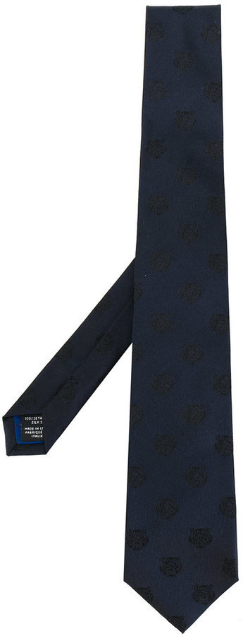 Kenzo Tiger Embroidered Tie