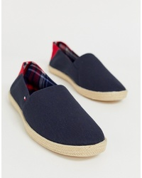Tommy Hilfiger Espadrille With And Flag In Navy
