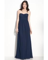 Jenny Yoo Aidan Convertible Strapless Chiffon Gown