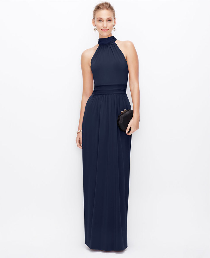 Ann Taylor Satin Jersey Halter Gown | Where to buy & how to wear