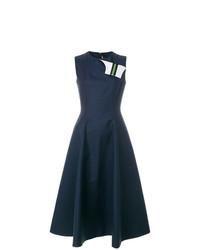 Calvin Klein 205W39nyc Fold Flap Flared Dress