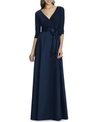 Alfred Sung Jersey Bodice A Line Gown