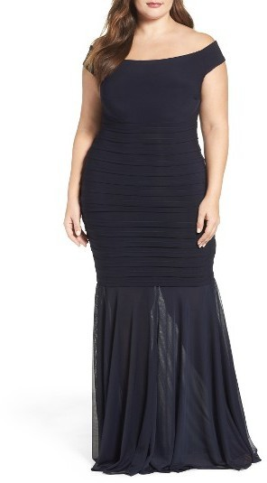 $248, Xscape Evenings Plus Size Xscape Off The Shoulder Mermaid Gown