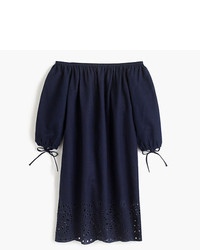 J.Crew Off The Shoulder Eyelet Beach Dress