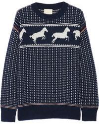 Navy Fair Isle Crew-neck Sweater