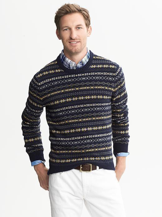 Banana Republic Fair Isle Crew | Where to buy & how to wear