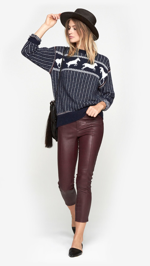 Band Of Outsiders Fair Isle Horses Sweater | Where to buy & how to ...