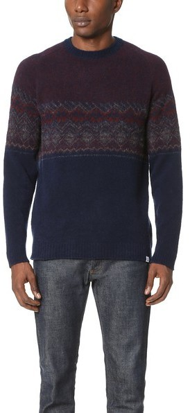 Norse Projects Birnir Fair Isle Sweater | Where to buy & how to wear