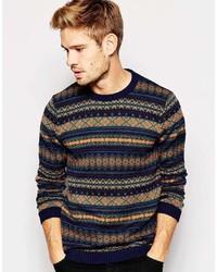 Asos Brand Sweater With Fairisle Pattern