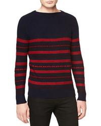 Burberry Brit Fair Isle Striped Crew Sweater