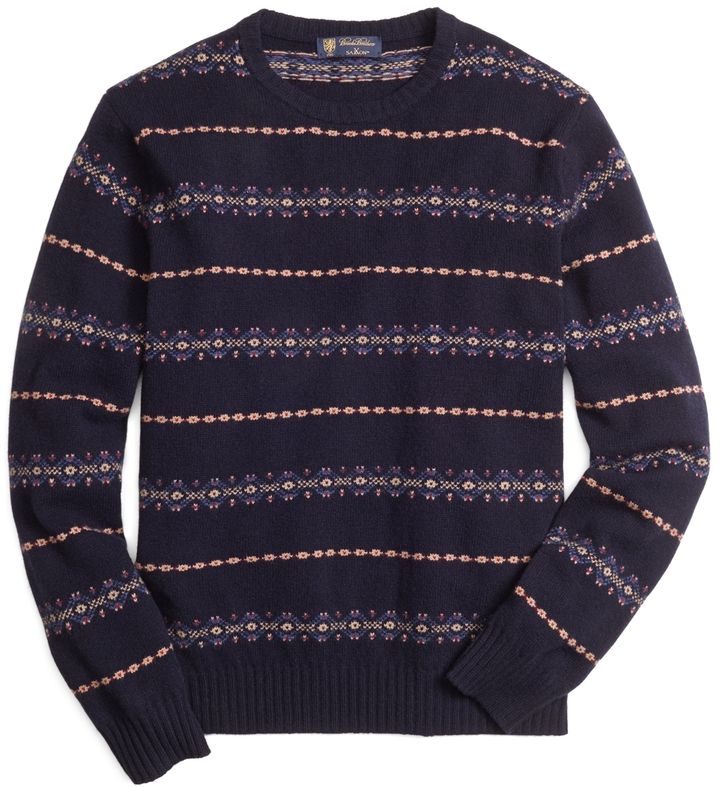 Brooks Brothers Fair Isle Crewneck Sweater | Where to buy & how to ...