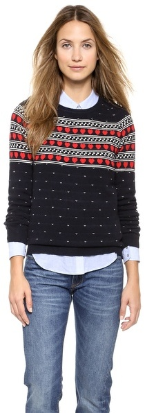 Chinti and Parker Cashmere Heart Yoke Sweater | Where to buy & how ...