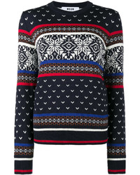 Crew neck fair isle knitted jumper medium 5145730