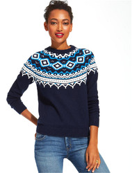 Fair isle crew neck sweater medium 124559