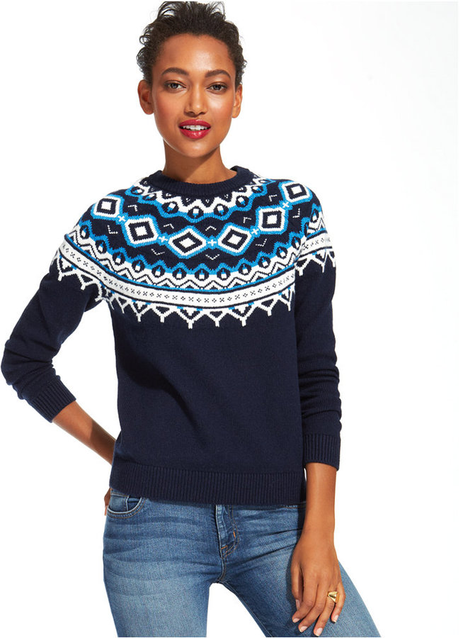 Tommy Hilfiger Fair Isle Crew Neck Sweater | Where to buy & how to ...