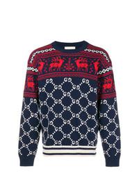 Gg and reindeer jacquard sweater medium 8163121
