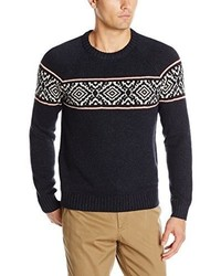 Haggar Fair Isle Crew Neck Sweater