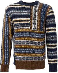 Joseph Fair Isle Crew Neck Sweater