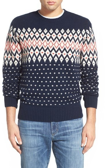 Gant Lambswool Fair Isle Crewneck Sweater   Where to buy & how to wear