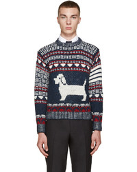 Navy fair isle hector sweater medium 669054