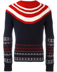 Neil Barrett Fair Isle Striped Jumper