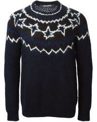 Neil Barrett Pattern Intarsia Sweater