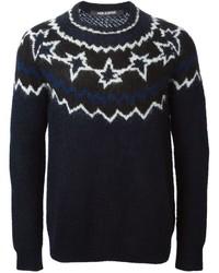 Pattern intarsia sweater medium 330840