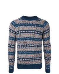 Lardini Patterned Crew Neck Jumper