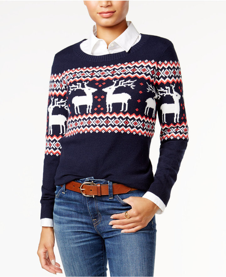 1d3fa1519e ... Tommy Hilfiger Reindeer Fair Isle Sweater Only At Macys ...