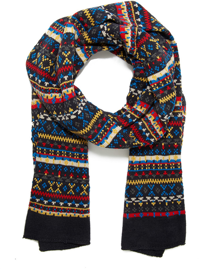 Forever 21 Fair Isle Striped Knit Scarf | Where to buy & how to wear