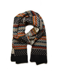 Forever 21 Fair Isle Striped Scarf