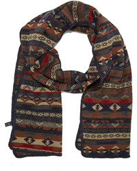 Forever 21 Mixed Fair Isle Pattern Scarf