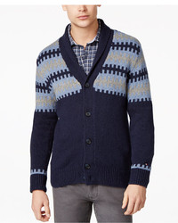 Tommy Hilfiger Elton Shawl Collar Fair Isle Cardigan