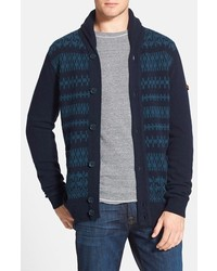 Ben Sherman Fair Isle Shawl Collar Cardigan