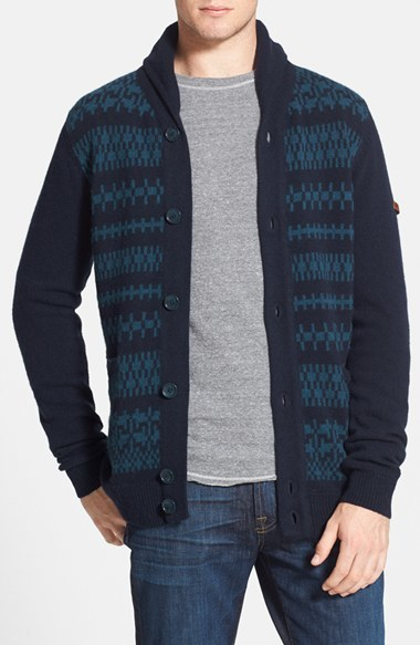 Ben Sherman Fair Isle Shawl Collar Cardigan | Where to buy & how ...