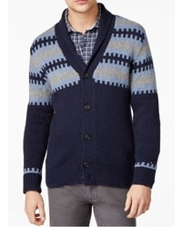 Tommy Hilfiger Shawl Collar Fair Isle Cardigan Sweater