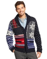 Tommy Hilfiger Sweater Pelham Fair Isle Shawl Collar Sweater