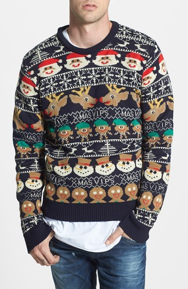 Bellfield Snowman Intarsia Knit Crewneck Sweater | Where to buy ...
