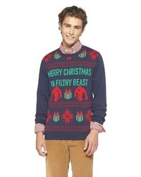 Mossimo Supply Co Beast Ugly Christmas Sweater Navy