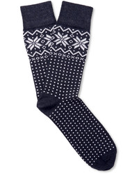 Corgi Fair Isle Wool Blend Socks