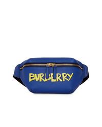 Burberry Medium Graffiti Print Leather Bum Bag