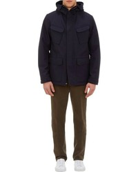 Aspesi Hooded Field Jacket Blue