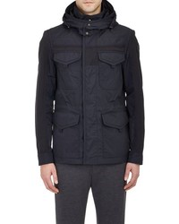 Moncler Hooded Field Jacket Blue